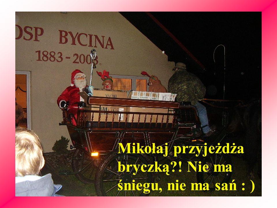 Mikołaj przyjeżdża bryczką ! Nie ma śniegu, nie ma sań : )