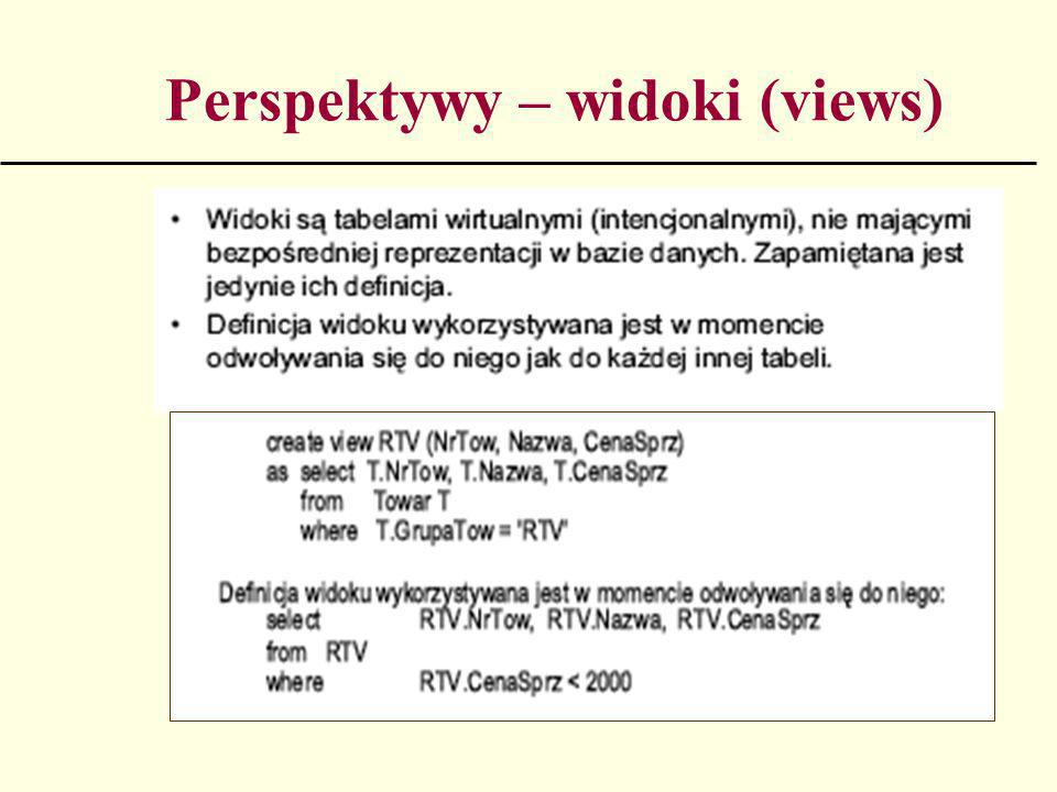 Perspektywy – widoki (views)