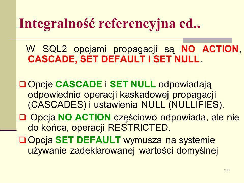 Integralność referencyjna cd..