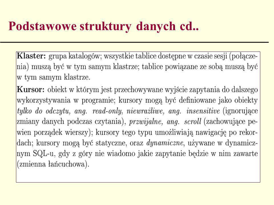 Podstawowe struktury danych cd..
