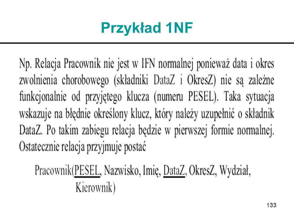 Przykład 1NF