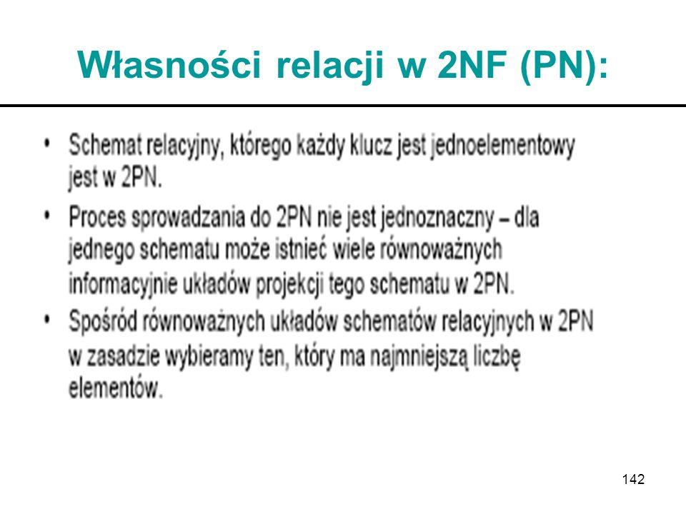 Własności relacji w 2NF (PN):