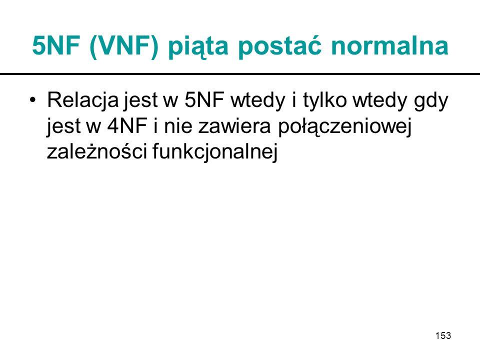 5NF (VNF) piąta postać normalna