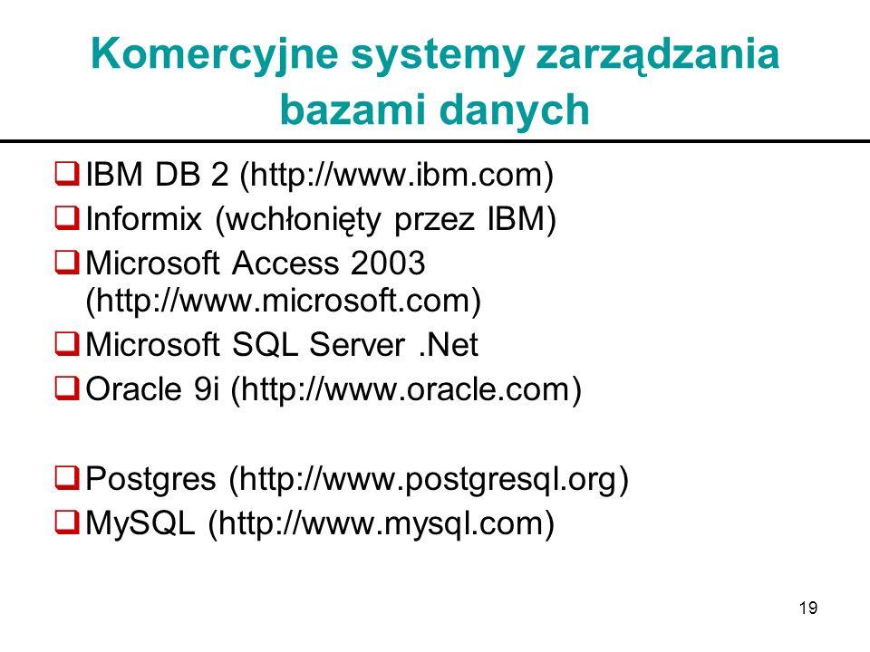 Komercyjne systemy zarządzania bazami danych