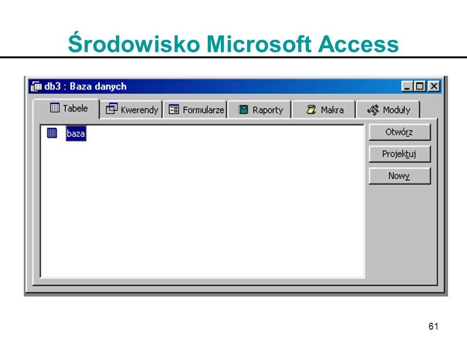 Środowisko Microsoft Access