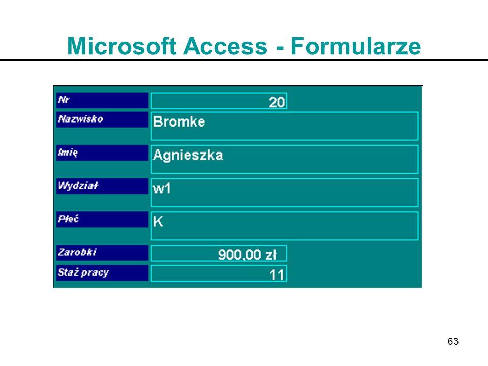 Microsoft Access - Formularze