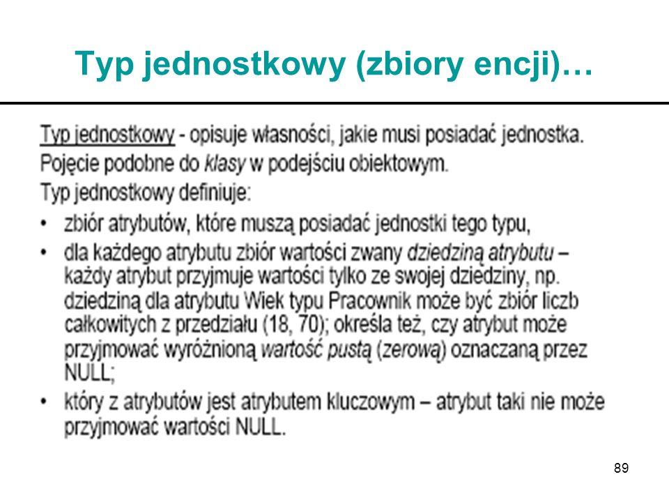Typ jednostkowy (zbiory encji)…