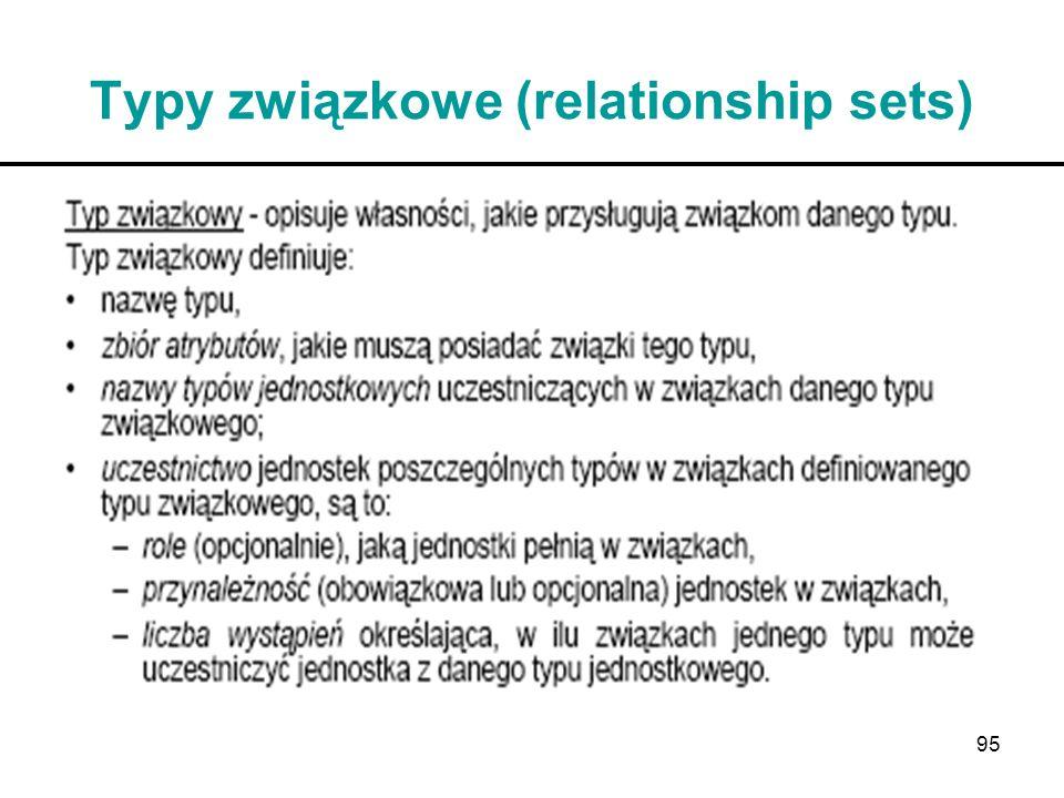 Typy związkowe (relationship sets)
