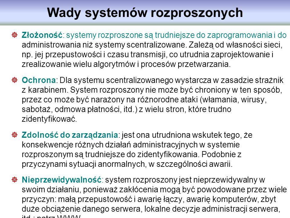 Wady systemów rozproszonych