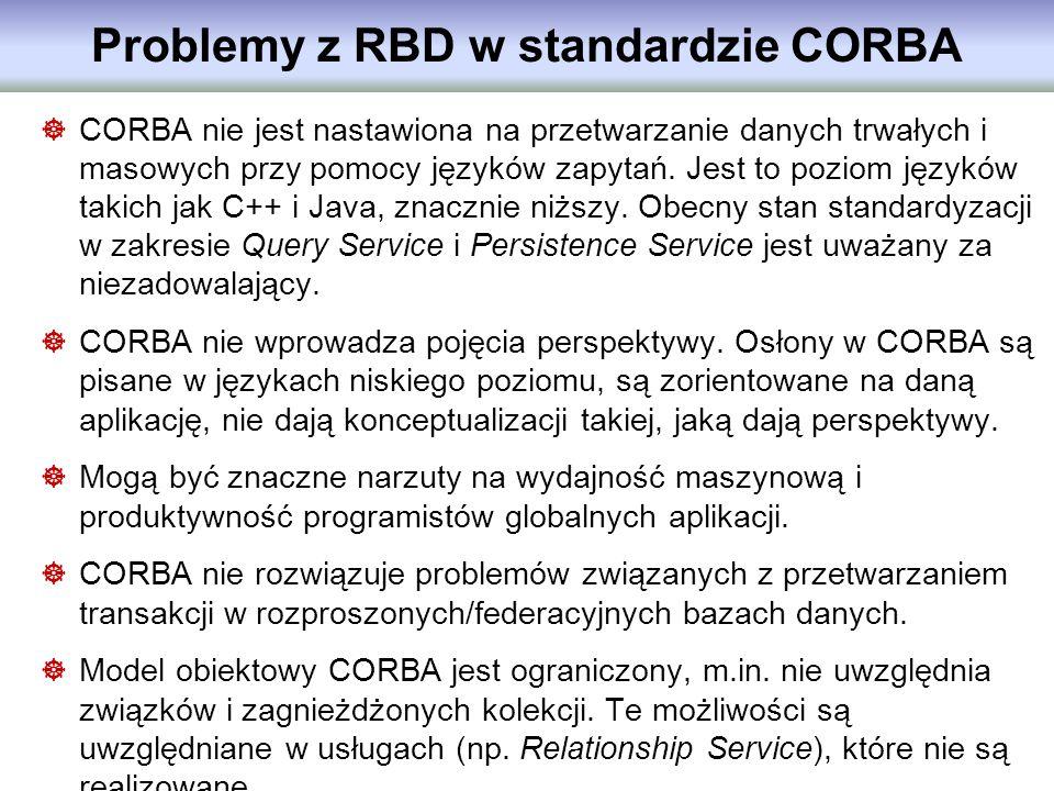 Problemy z RBD w standardzie CORBA