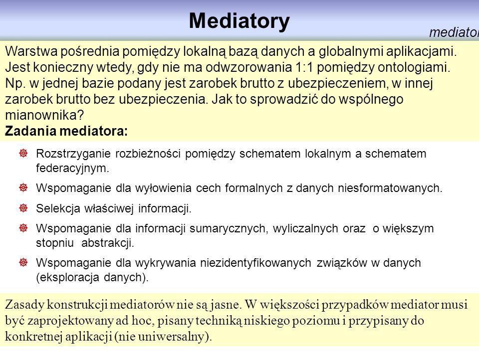 Mediatory mediator. Warstwa pośrednia pomiędzy lokalną bazą danych a globalnymi aplikacjami.