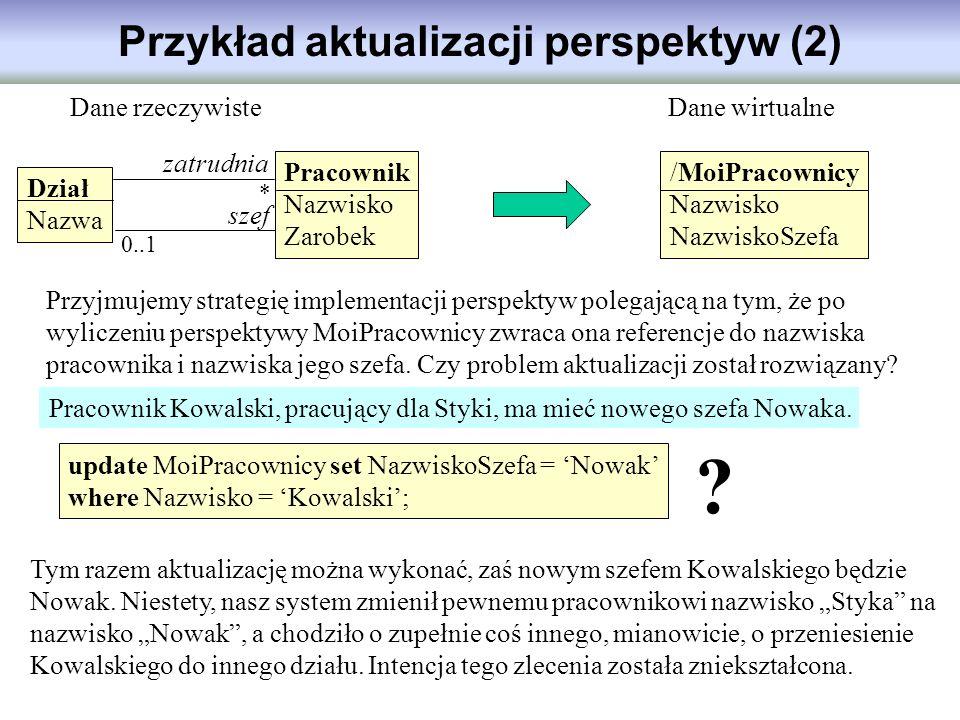 Przykład aktualizacji perspektyw (2)