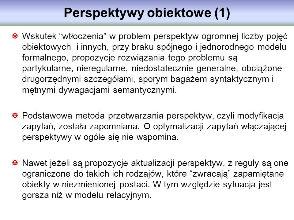 Perspektywy obiektowe (1)