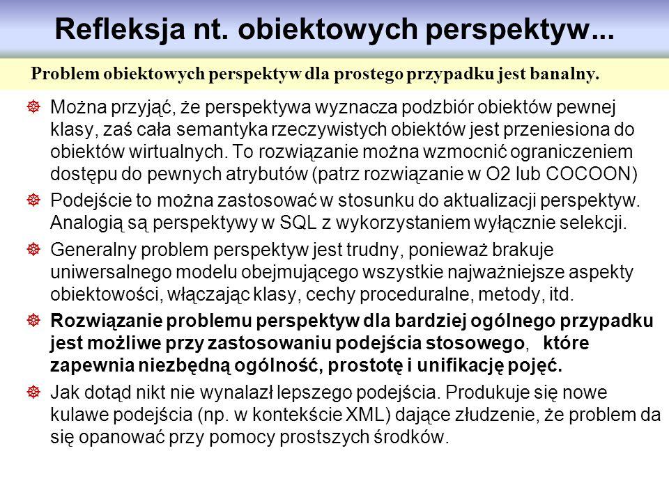 Refleksja nt. obiektowych perspektyw...