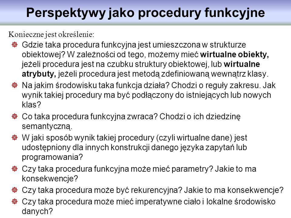 Perspektywy jako procedury funkcyjne