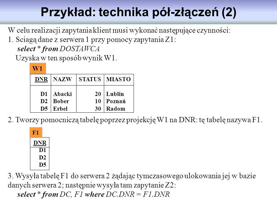 Przykład: technika pół-złączeń (2)