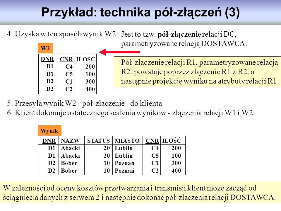 Przykład: technika pół-złączeń (3)