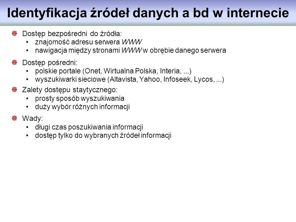 Identyfikacja źródeł danych a bd w internecie