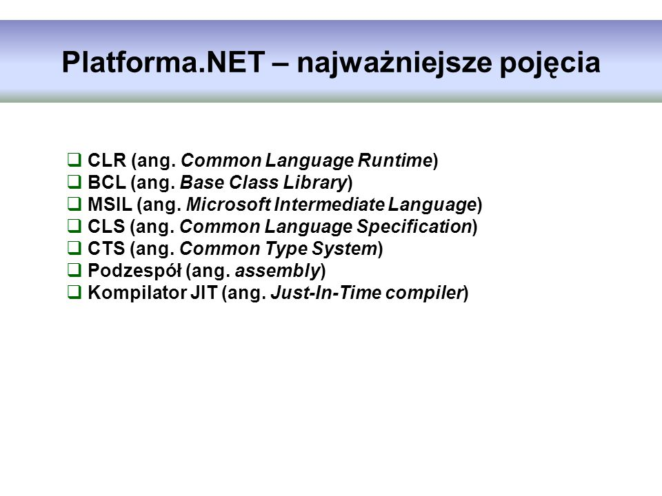Platforma.NET – najważniejsze pojęcia
