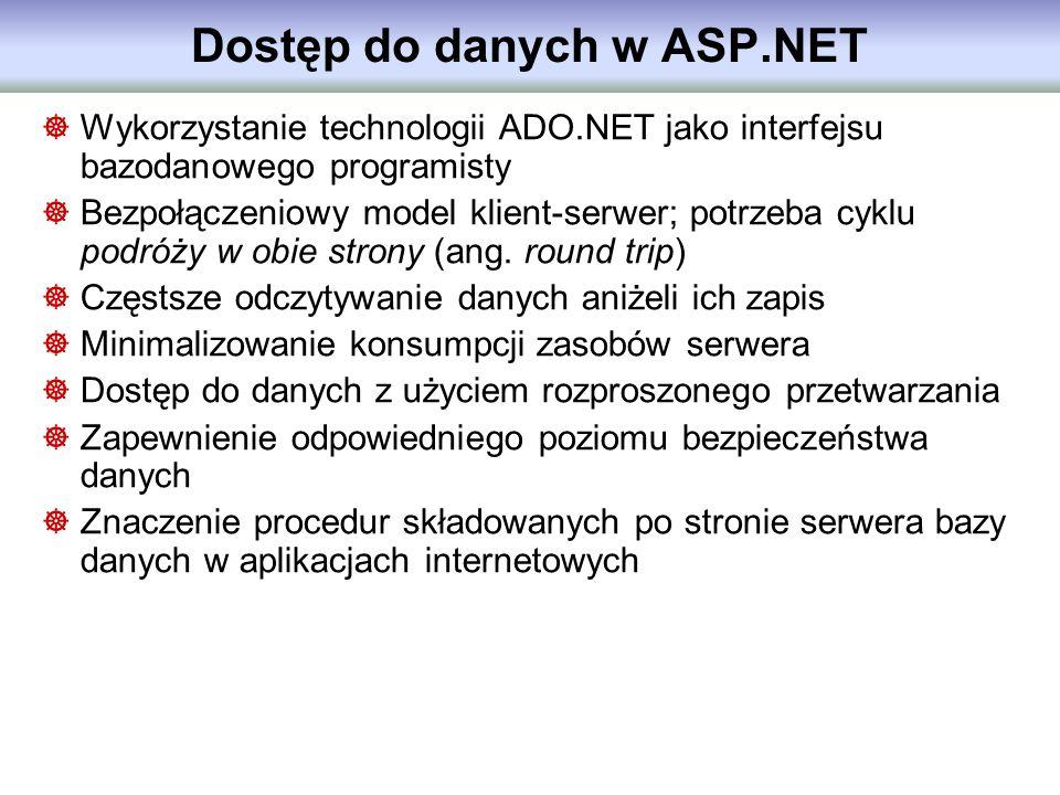 Dostęp do danych w ASP.NET