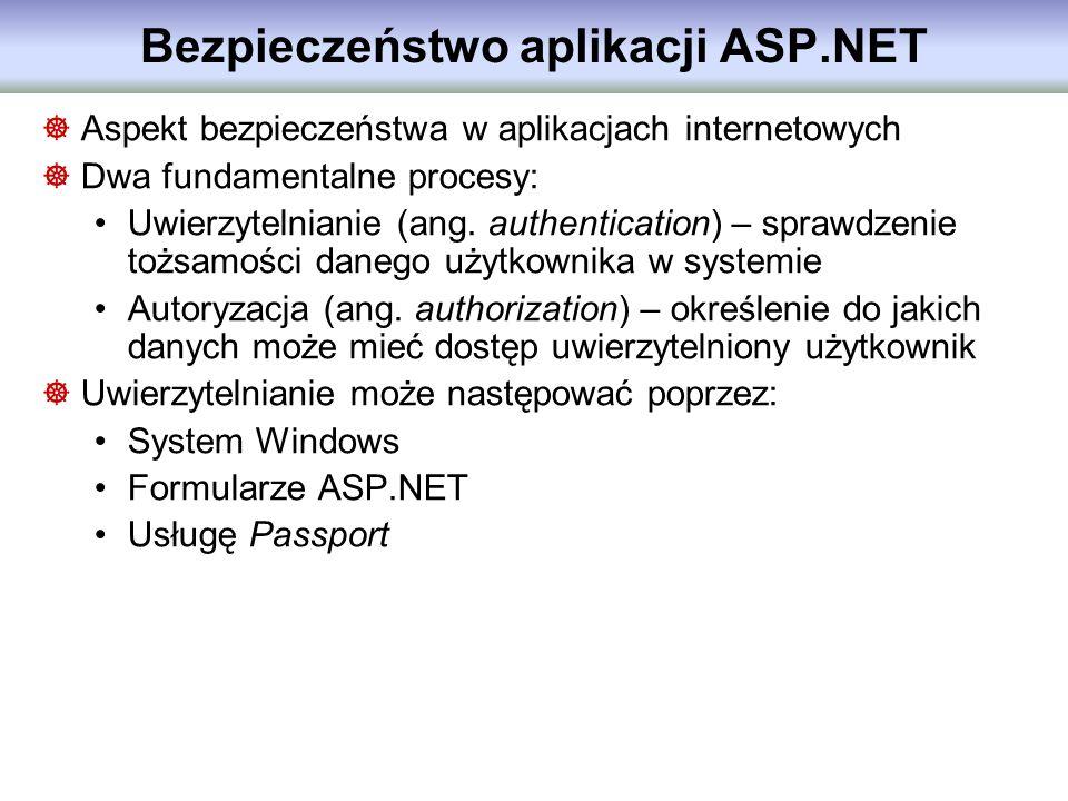 Bezpieczeństwo aplikacji ASP.NET