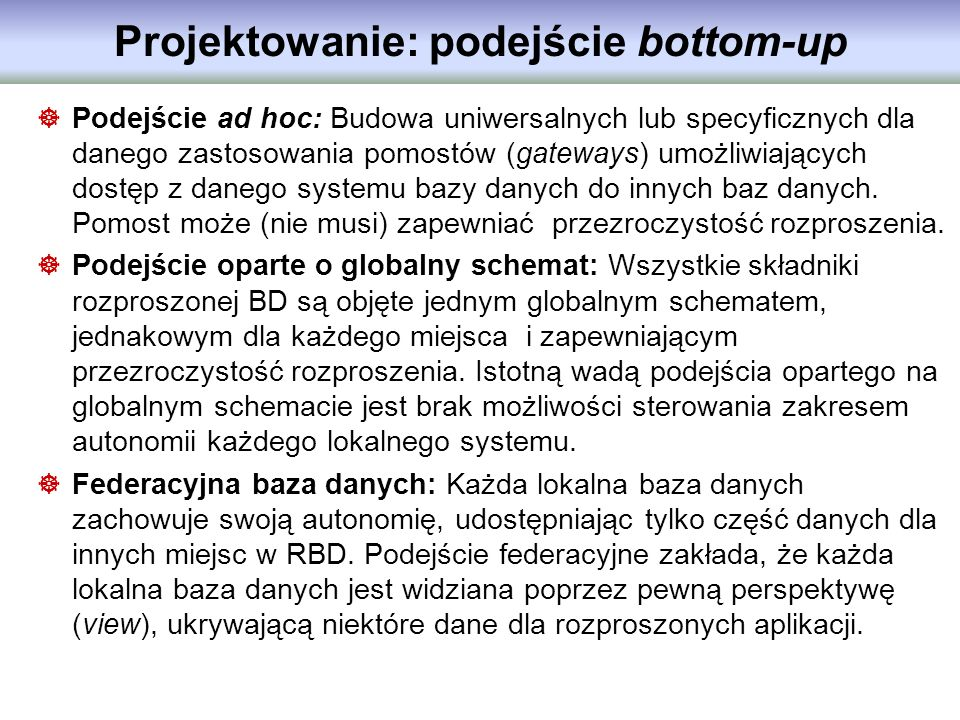 Projektowanie: podejście bottom-up