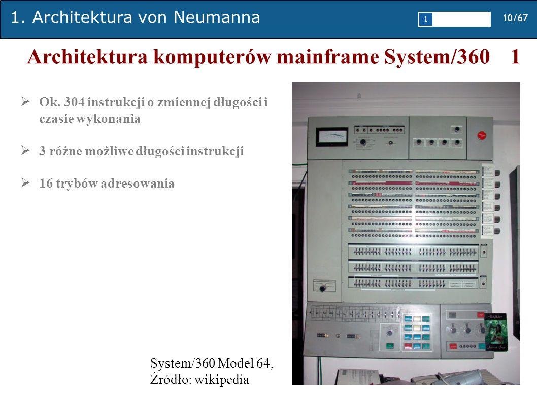 Architektura komputerów mainframe System/360 1