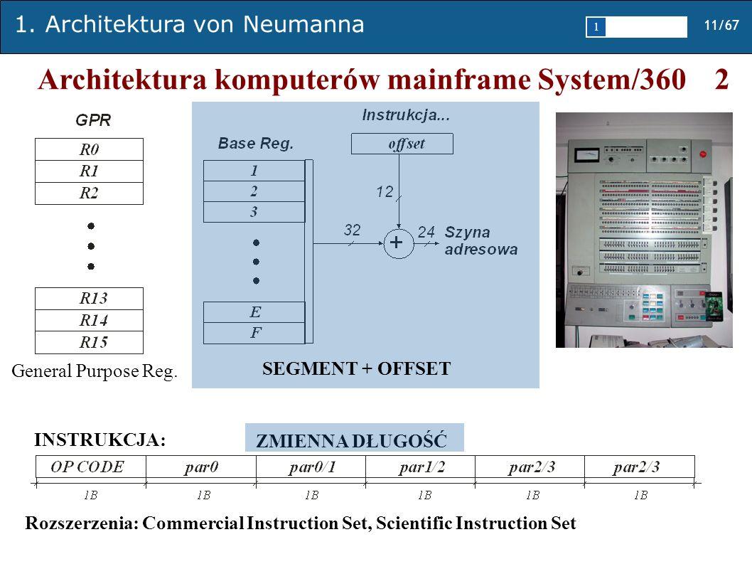 Architektura komputerów mainframe System/360 2