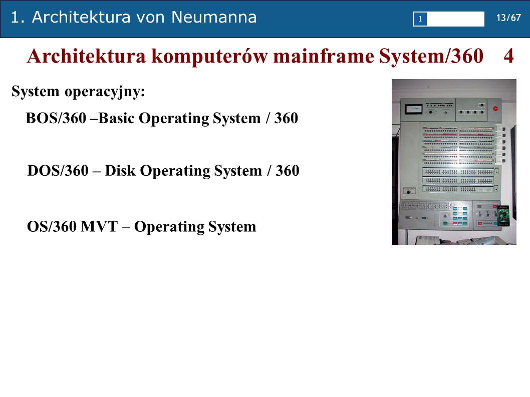Architektura komputerów mainframe System/360 4