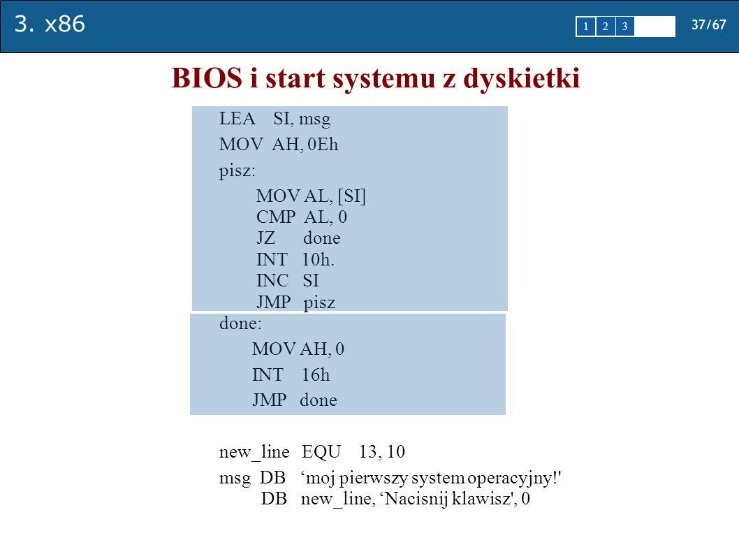 BIOS i start systemu z dyskietki