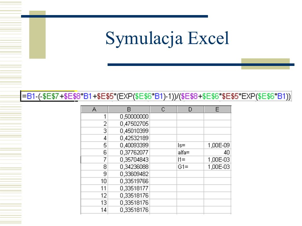Symulacja Excel