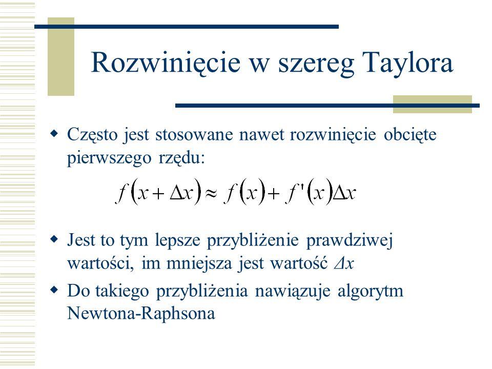 Rozwinięcie w szereg Taylora