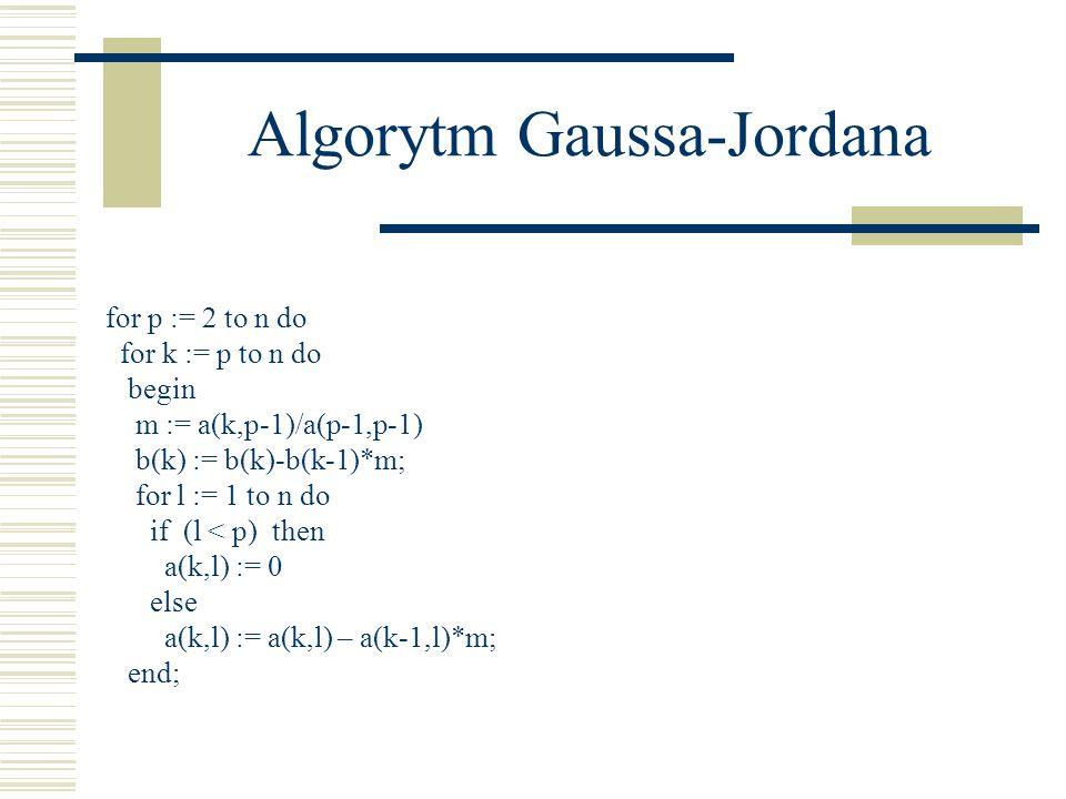 Algorytm Gaussa-Jordana