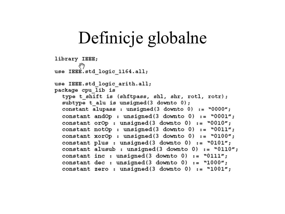 Definicje globalne