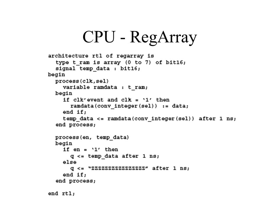 CPU - RegArray