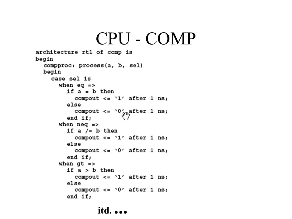 CPU - COMP itd. ...