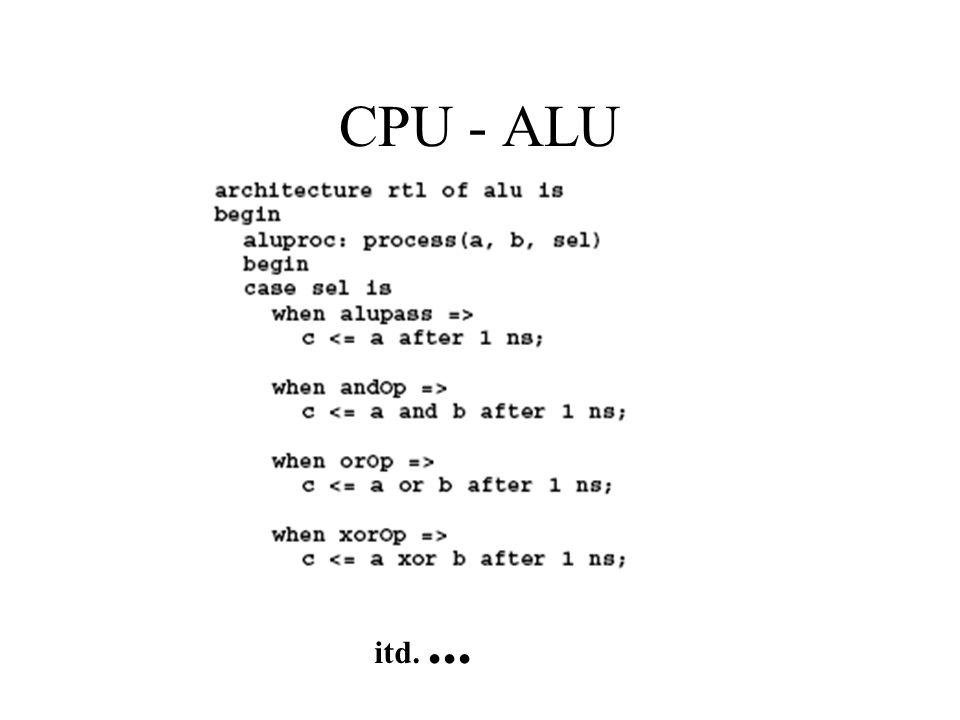 CPU - ALU itd. ...