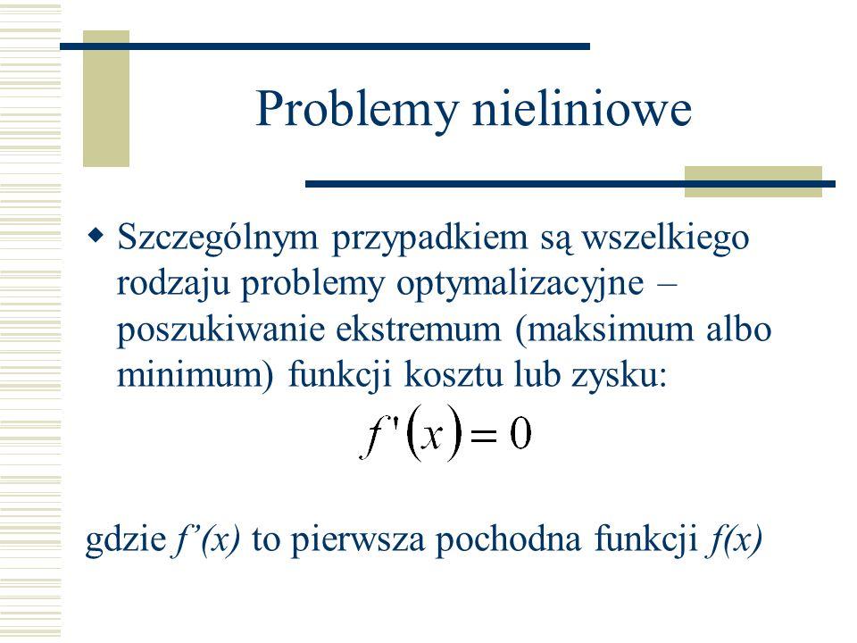 Problemy nieliniowe