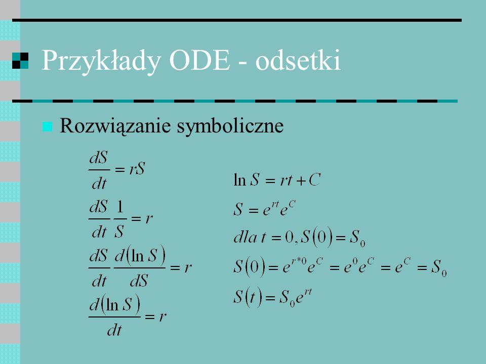 Przykłady ODE - odsetki