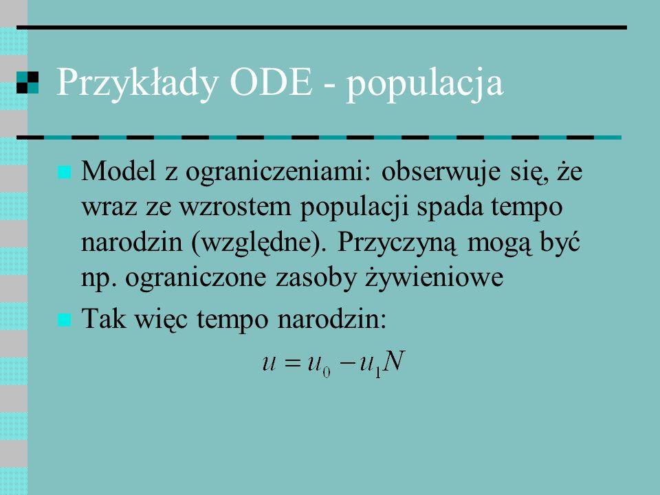 Przykłady ODE - populacja