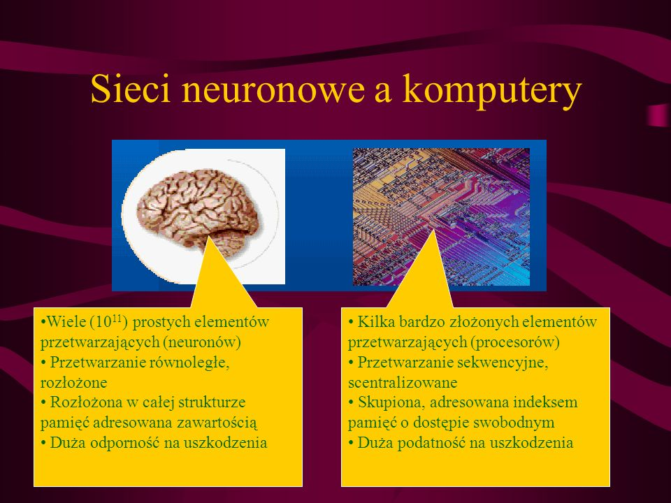 Sieci neuronowe a komputery