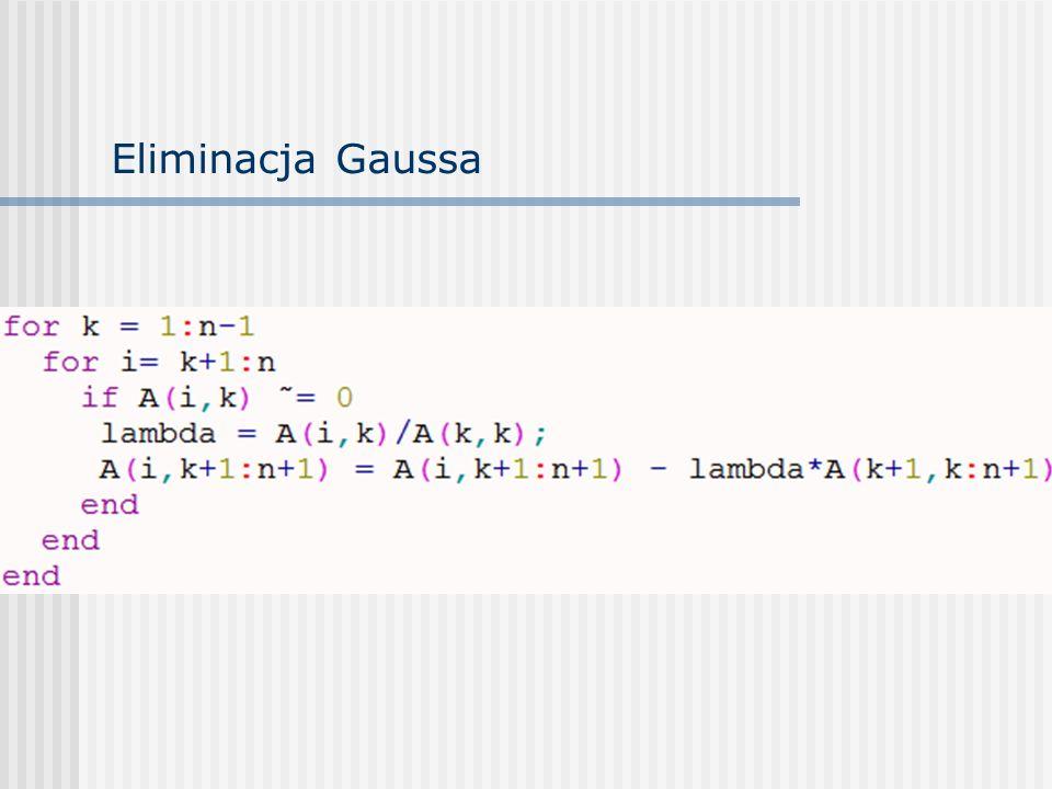 Eliminacja Gaussa