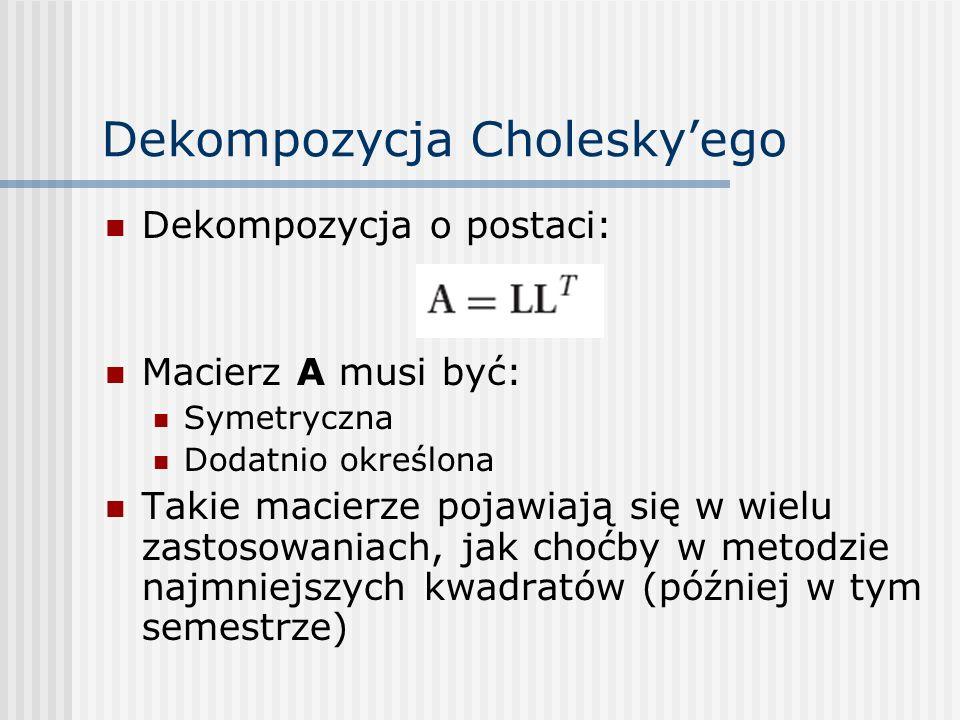 Dekompozycja Cholesky'ego