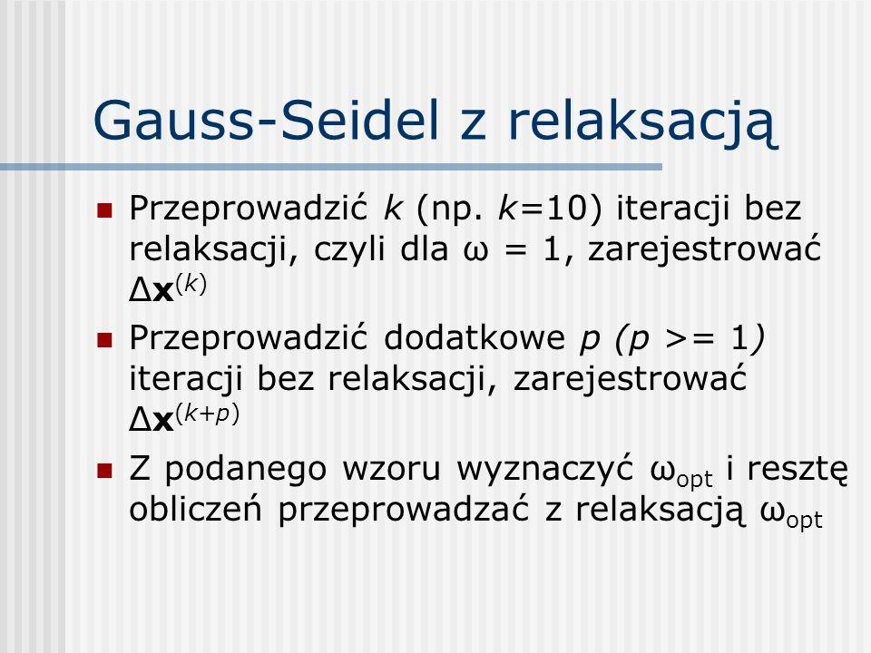 Gauss-Seidel z relaksacją