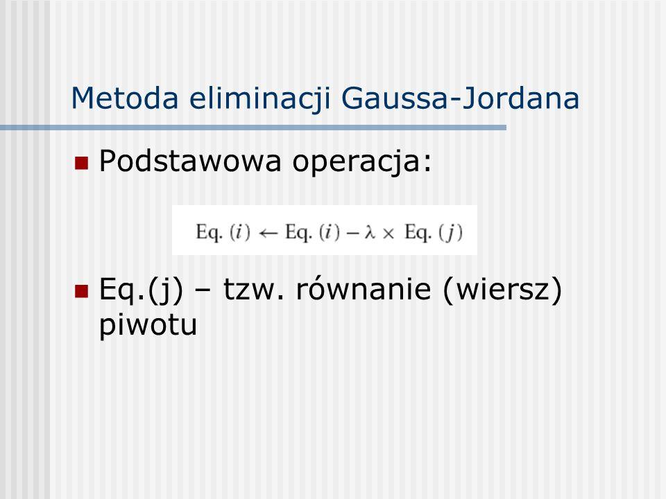 Metoda eliminacji Gaussa-Jordana