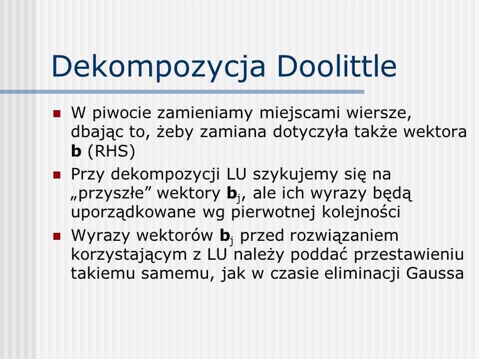 Dekompozycja Doolittle