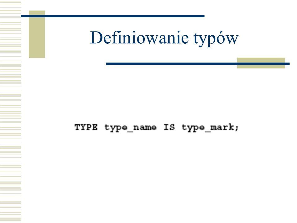 Definiowanie typów