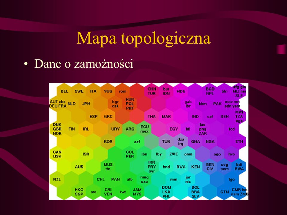 Mapa topologiczna Dane o zamożności