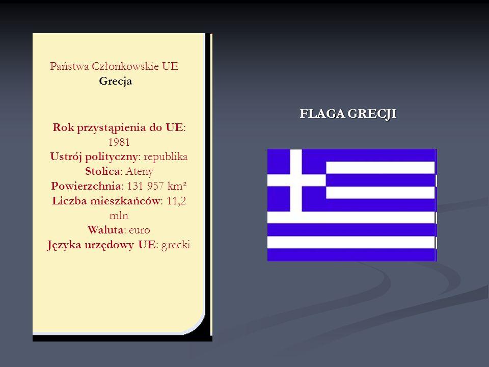 FLAGA GRECJI Państwa Członkowskie UE Grecja
