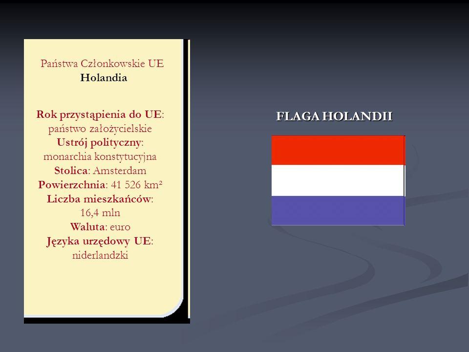FLAGA HOLANDII Państwa Członkowskie UE Holandia